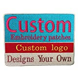 Custom Embroidery Patches Any Size Any Logo Decorative Patches Iron on Sew on Hook & Loop Fasten (4inch or Less, 4 Patches)