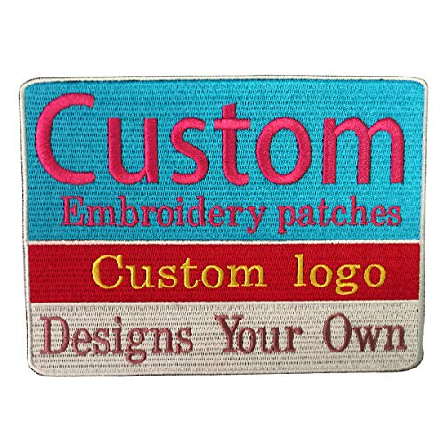 Embroidery Custom Name Text Patch Stripes badge Iron On Or Sew Or hook Backing