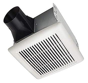 Broan-NuTone A110 Broan Invent Series Single-Speed Ceiling Room-Side Installation Bathroom Exhaust Fan 3.0 Sones 110 CFM White