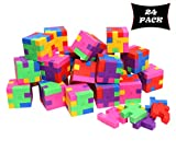 Smart Novelty Cube Puzzle Erasers for Kids School Supplies and Party Favors - Bulk Pack of...