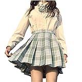 Falda a cuadros para mujer, cintura alta, falda plisada a la moda, falda de bodycon con una línea A, falda corta antiquemada, falda de uniforme escolar