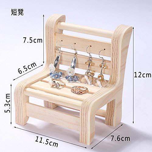 ASDFG Houten oorbellen, opbergdoos, kraag, display, armband, kruk, decoratie, oorbellen, sofa, sieradenstandaard, ronde tafel display