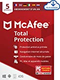 McAfee Total Protection 2020 | 5 Appareils | 1 An | Logiciel Antivirus Multi-appareil |PC/Mac/Android/iOS | Code