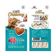 Catit Creamy Treats Tuna Flavor, 4 x 10g, Pack of 4