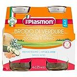 Plasmon Brodo di Verdure, Patate, Carote, Zucchini, Spinaci, 24 x 125 g...
