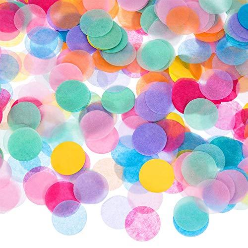 Confeti grande Azul Multicolor,60g Pastel Bruto 2.5cm Redondo Rosa Papel de seda Mesas Lentejuelas Tejido Confeti metálico para la decoración de la mesa Cumpleaños Bautismo Fiesta Boda Baby Shower