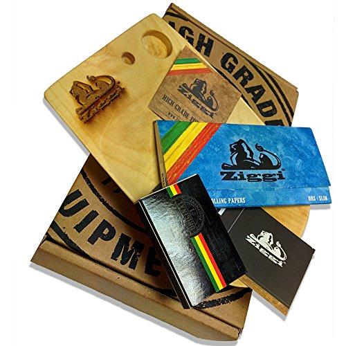 Ziggi Papiere Holz Rolling Schacht Geschenk-Set–earthwide–Hochwertigen Equipment