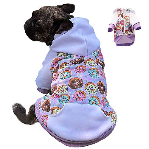 Miaododo Puppy Dog Hoodie for Small Medium Dogs Hooded Sweatshirt with Pocket Pet Clothes Sweaters with Hat Fleece Cat Hoodies Coat Winter