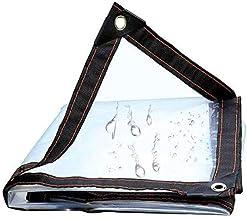 Zeildoek en transparante multifunctionele zeil, UV en scheurbestendig zeil, versterkte rand met grommet,3x5