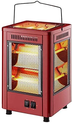 WANQPPS Calentadores eléctricos para el hogar con calefacción de 360 ° Calentador de Barbacoa de Cinco Lados Interruptor Independiente Mini Calentador de Aire Termoventiladores y calefactores cerá