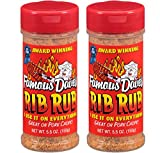 Famous Dave's Rib Rub Seasoning, 5.5 Ounce, Pack of 2