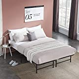 VECELO 14 Inch Metal Bed Frame, Tool Assembly/Quiet Noise Free/Box Spring Replacement Black (Full), Foldable Platform