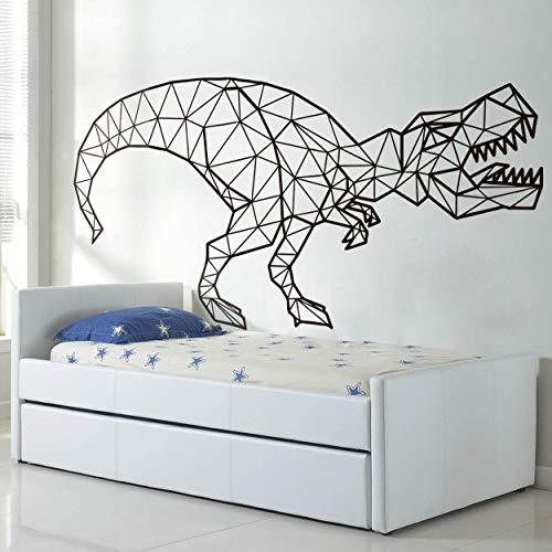 Decoración geométrica Tyrannosaurus Rex pegatinas de pared dinosaurio pegatinas de pared decoración de pared papel tapiz artístico pegatinas de pared A4 43x80cm