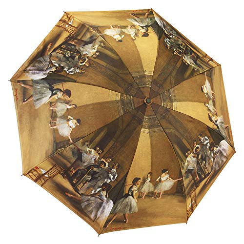 Galleria Reverse Close Folding Umbrella, Ballerinas with art on both sides.