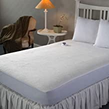 Perfect Fit Invisiwire Microplush Low Voltage Micro-Velour Plush Waterproof Heated Electric Warming Mattress Pad, Twin