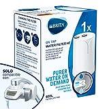 BRITA On Tap HF (versión 2019) | 1 Cartucho filtrante de agua | Recambio de filtro de agua compatible con BRITA On Tap (versión 2019) | Agua filtrada de excelente sabor | Solución más sostenible