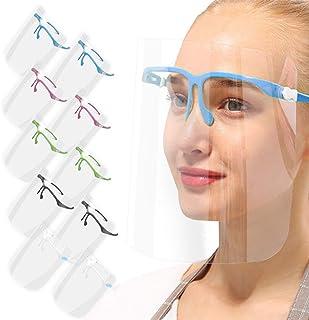 AIEOE 10 Pcs Visera Plástica de Protección Facial Anti Escupir Gafas de Seguridad Pantalla Protectora para la Cara Transpa...