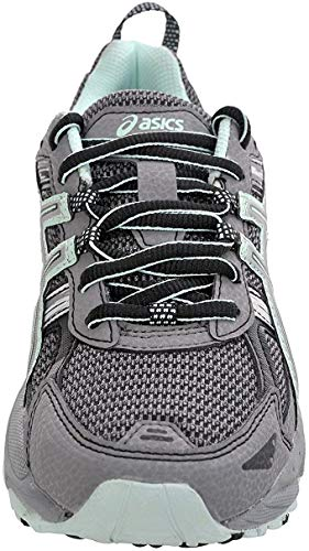 ASICS Women's Gel-Venture 5 Trail Running Shoe, Frost Gray/Silver/Soothing Sea, 6 M US