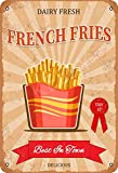 Dairy Fresh Fast Food French Fries Blechschild Metall