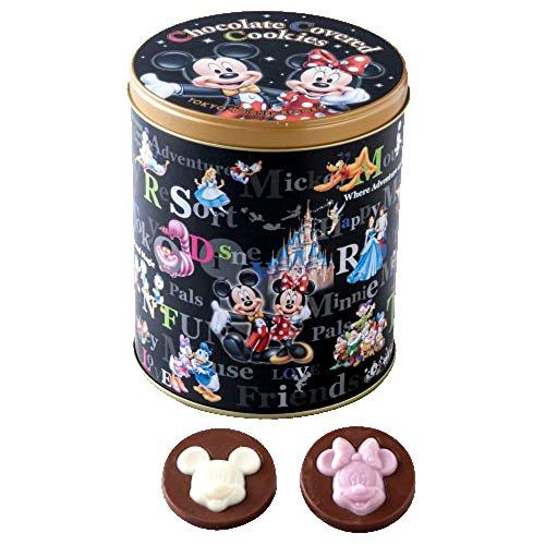ディズニー お菓子 黒缶 チョコレート カバード クッキー ミッキー ミニー ドナルド デイジー 他 チョコレート菓子 ( ディズニーリゾート限定 お土産 )