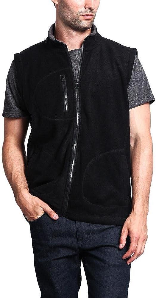 G-Style USA Men's Three Pocket Fleece Vest