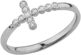 Best sideways cross ring diamond Reviews
