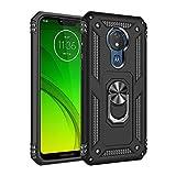 BestST Motorola Moto g7 Power Hülle 360 Grad Handyhülle Bumper Hülle Robust Cover [Ultra Hybrid Schutzhülle ]+ Bildschirmschutz für Motorola Moto g7 Power Schwarz
