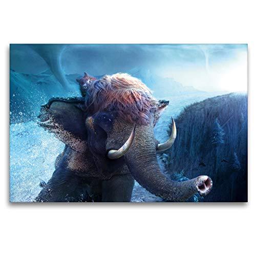 Premium Textil-Leinwand 120 x 80 cm Quer-Format Grenzgänger   Wandbild, HD-Bild auf Keilrahmen, Fertigbild auf hochwertigem Vlies, Leinwanddruck von Frank Melech