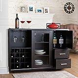 Julienne Modern Furniture of America Sliding Door Wine Bar Dining Server (Cappuccino)
