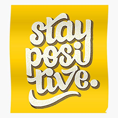 Positive Typography Retro Hand Lettering Type Vibes Good Home Decor Wall Art Print Poster !