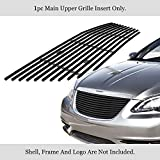 APS Compatible with 2011-2014 Chrysler 200 Black Stainless Steel Billet Grille Grill Insert...