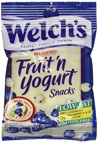 Welch's Blueberry Fruit'n Yogurt Snacks,2-Pack, 16-0.8oz pouches