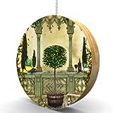 Tuscan Lemon Tree Hardwood Oak Fan/Light Pull