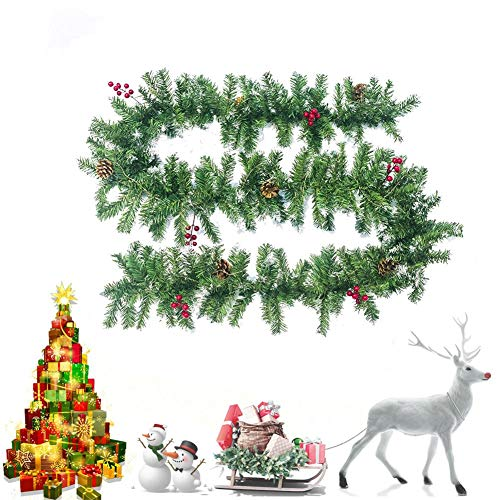 rebirthesame Bolas de mimbre de Navidad de 2020, bolas de mimbre – esferas decorativas para árbol de Navidad, adornos de casa, puerta y ventana, cono de pino decoración habitual