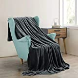 MOONCAST Fleece Blanket King Size Soft Flannel Throw Blankets Lightweight Warm for Bed Couch Fuzzy for Adults Kids Pets,90x108 Inches,Dark Grey