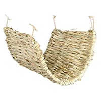 Grass mat for rabbits, guinea pigs, degus, rats and other small animals Made of 100 percent natural materials With loops for hanging inside the cage
