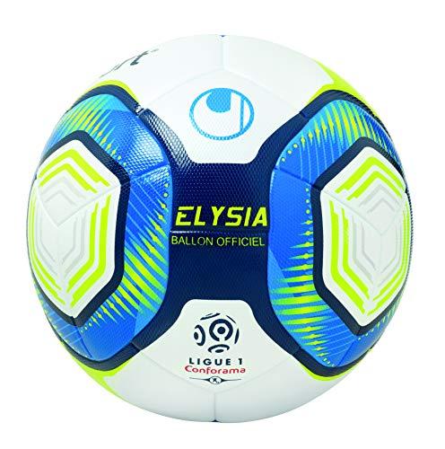 uhlsport Elysia Offizielle Ballons, Größe 5 Erwachsene, Unisex, Weiß/Metallic, Blau/Gelb, 5