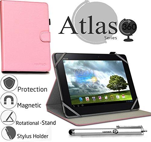 Navitech 10 Zoll pinkes Case/Cover mit 360 Rotierbare Stand Funktion und Stylus Pen für das Archos Neon 9.7 / Archos 101 Neon/Archos 101 Xenon/Archos 101 Cobalt