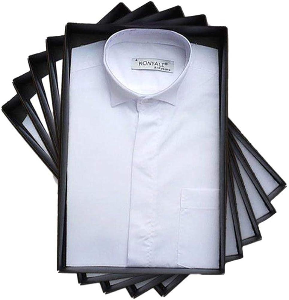 SIRRI Jungen Hemd wei/ß Boys White Wing Collar Shirt