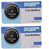 HQRP 2-Pack Battery fits Varta LIR1454 CP1454 1454 ICR1454S Bose Soundport Free, B&O Beoplay E8, Samsung Gear IconX 2018 TWS Headphones Smart Bracelets Glasses Necklaces
