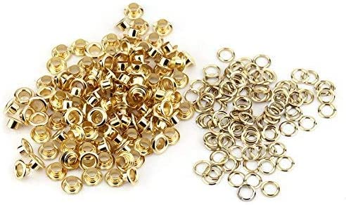 100pcs Eyelet Grommet Virginia Cheap sale Beach Mall Set 5mm Gold Rivets Silver Eyelets Craft