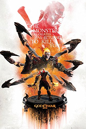 God of War - Key Art 2 - Remastered Game Videospiel Poster Plakat Druck - Größe 61x91,5 cm