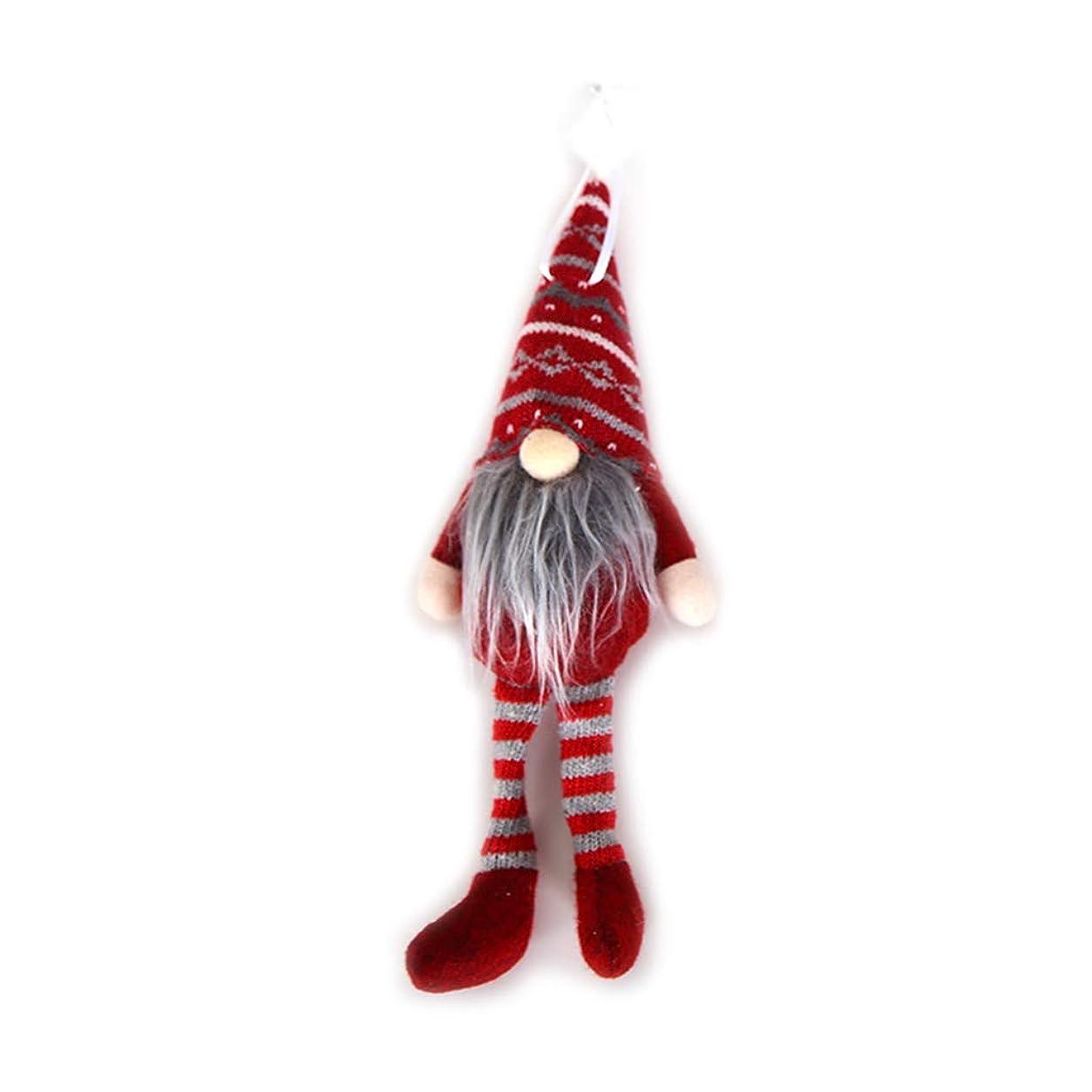おもしろいジャンクション利益shunxinerstyクリスマスオーナメント1ピースロングハットサンタぬいぐるみ飾りぶら下げクリスマスツリーエルフおもちゃホリデーホームパーティーの装飾赤ロング脚