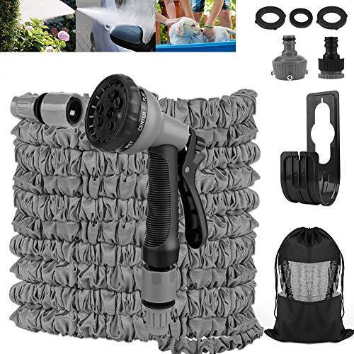 Etmury Flexibler Gartenschlauch , Gartenschlauch 30M 100FT 2021Neu Latexmaterial Wasserschlauch Verschleißfester Dehnbar mit Mehrere Funktion Sprühkopf Gartenschlauch für Reinigung Gartenarbeit