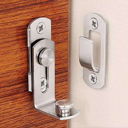 NANAD 304/201 Acero inoxidable 90 grados de ángulo recto hebilla de gancho perno de bloqueo para puerta corredera, cadena de hardware, cerradura de puerta de empuje pernos accesorios del hogar