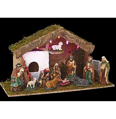 Crèche de Noël lumineuse complète Saint-David