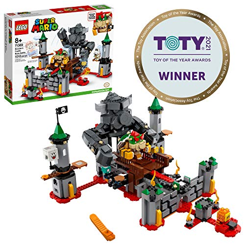 LEGO Super Mario Bowser?s Castle Boss Battle Expansion Set 71369 Building Kit; Collectible Toy for Kids to Customize Their Super Mario Starter Course (71360) Playset, New 2020 (1,010 Pieces)