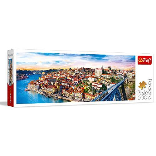 Trefl- Porto, Portugal 500 Teile, Panorama, Premium Quality, für Erwachsene und Kinder AB 10 Jahren Puzle, Color Coloreado (29502)