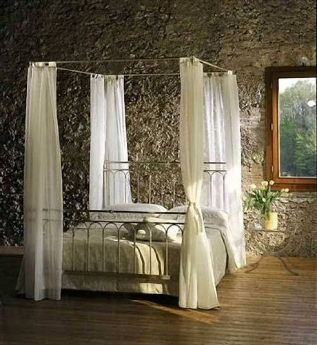 Rosso di Sera Himmelbett Toscana Metall Bett 180 x 200