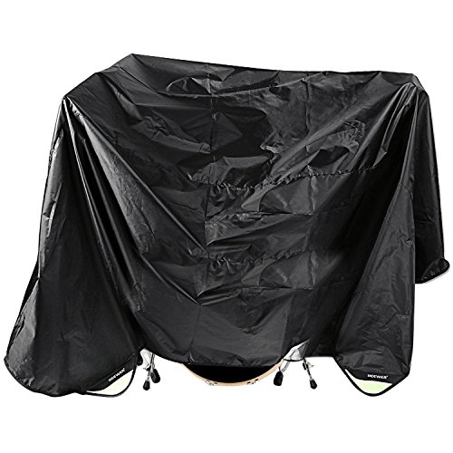 Neewer Black 80 x 108 Inches Drum Set Dust Cover Water-Resistant Nylon Cover With Sewn-in Weighted Corners
